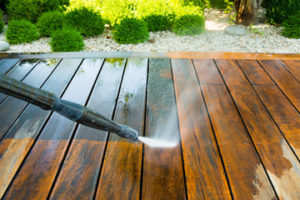 Power Washing a Wood Deck
