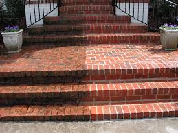 Power Washed Brick Steps