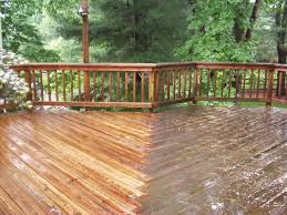 Power Washing House Deck